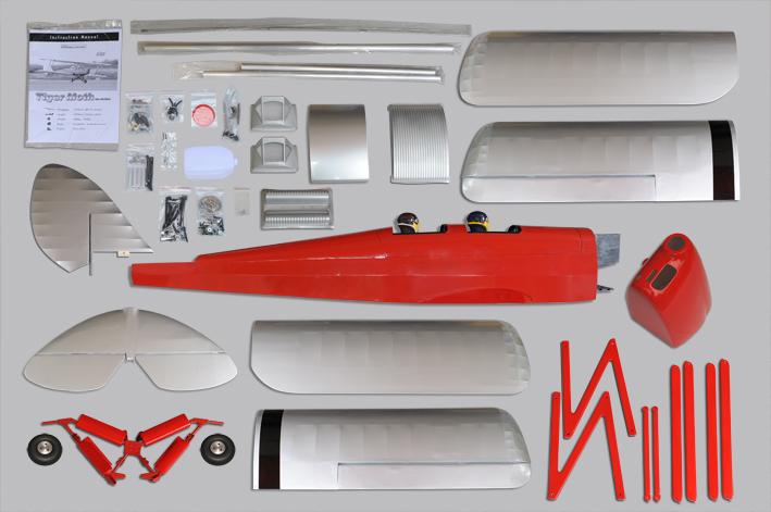 Tpm06 Tiger Moth 30cc Scale 1 4 Arf Phoenixmodel Com