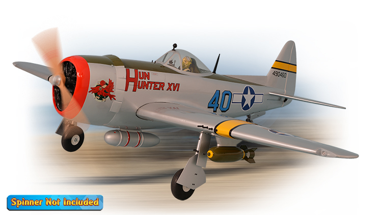 PH141 – P47 THUNDERBOLT GP/EP SIZE 30-35CC SCALE 1:6 ¼ ARF