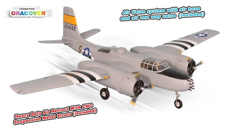 PH170– A26 INVADER GP/EP Size .46-.55 Scale 1:9 ¼  ARF